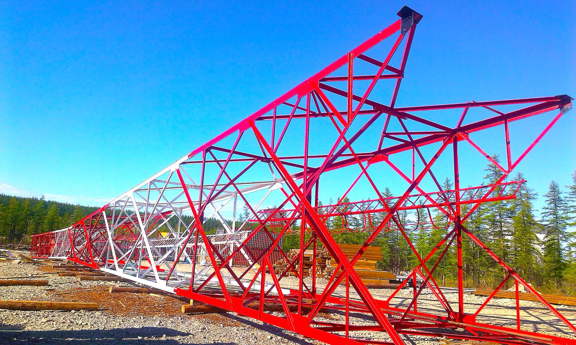 Монтаж металлической башни в Москве